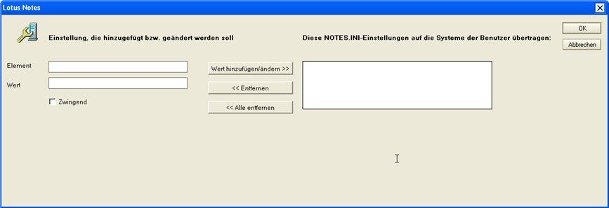 Image:Werte in Notes.ini Variablen setzen und Arbeitsumgebungen durch Richtlinien pflegen